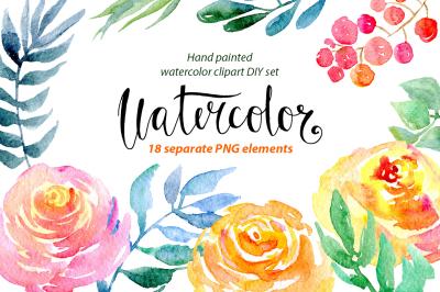 Watercolor Bloomy Peonies Elements Flowers Hand Painted   Etsy in 2020    Flower drawing, Watercolor flowers, Flower art