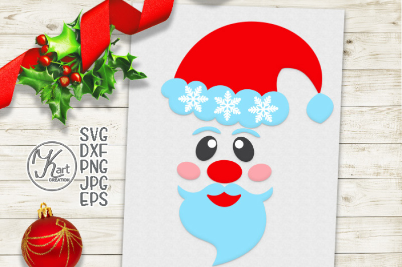 d71e636021920 Free Santa face svg file