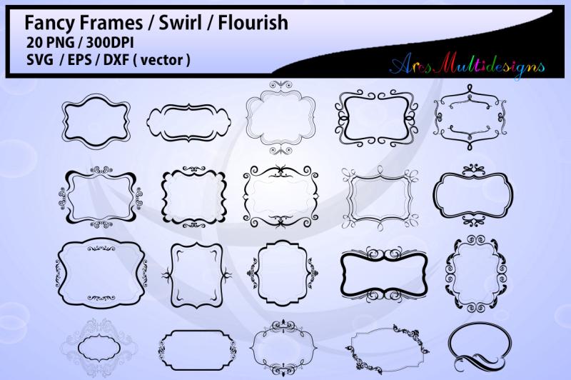 Flourish Frame Digital Wedding Clip Art Wedding Frame Png Flourish Frame Vinyl Cut File Flourish Frame Svg Files Flourish Frame Vector