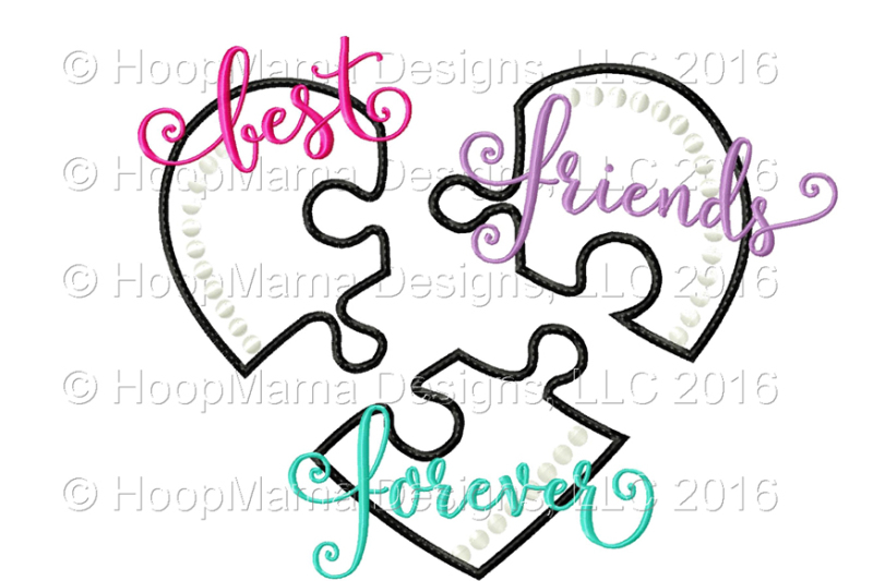 Best Friends Forever By Hoopmama Designs Thehungryjpeg Com