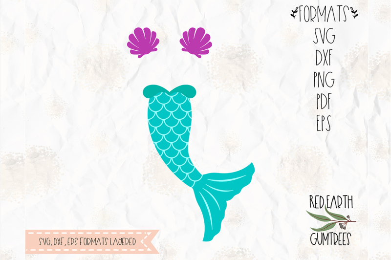 Download Free Mermaid Tail Clam Shell Cut File In Svg Dxf Png Pdf Eps Formats Crafter File
