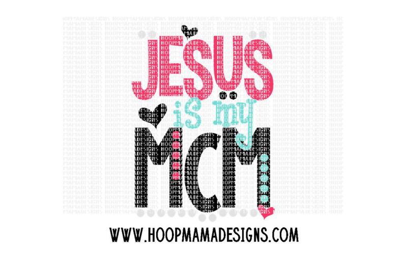 Free Jesus is my MCM Crafter File - All Free SVG Quotes File