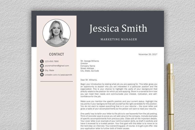 resume template    cv template    professional resume