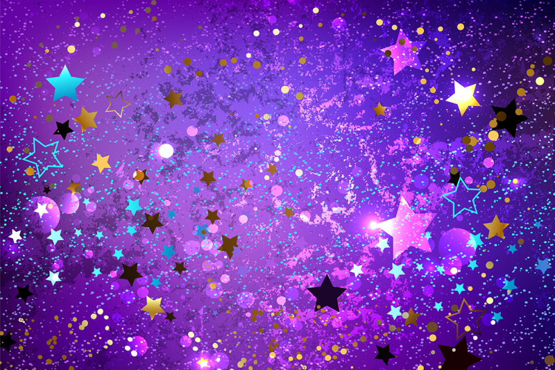 purple background with stars by blackmoon9