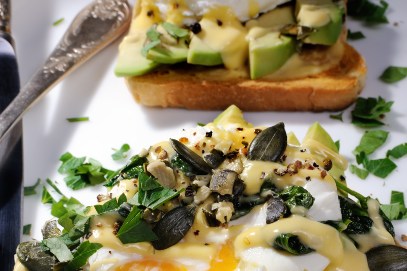Eggs Benedict With Avocado On Toast By Food Of Maryna Voronova