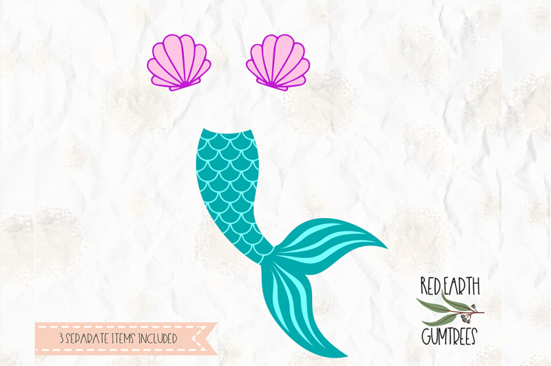 Free Mermaid Tail Clam Shell Cut File In Svg Dxf Png Pdf Formats Crafter File Free Svg Craft Files Cut