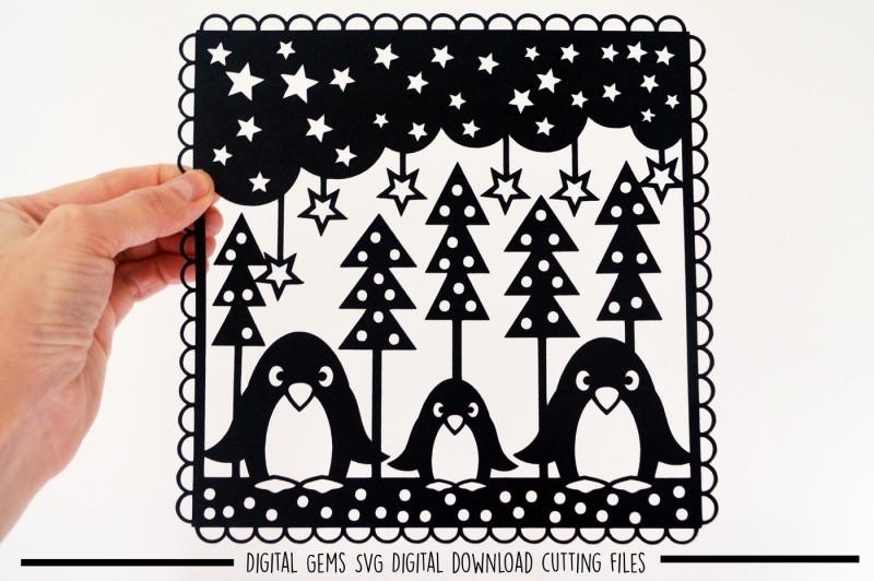 Free Penguin Paper Cut Svg Dxf Eps Files Svg Download Svg Files Music