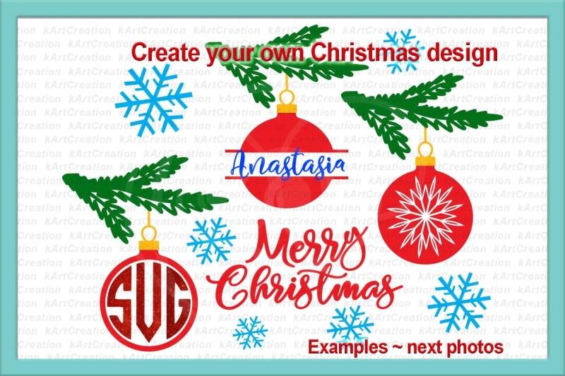 Merry Christmas Ornament Svg.Free Christmas Monogram Svg Christmas Bundle Svg Christmas