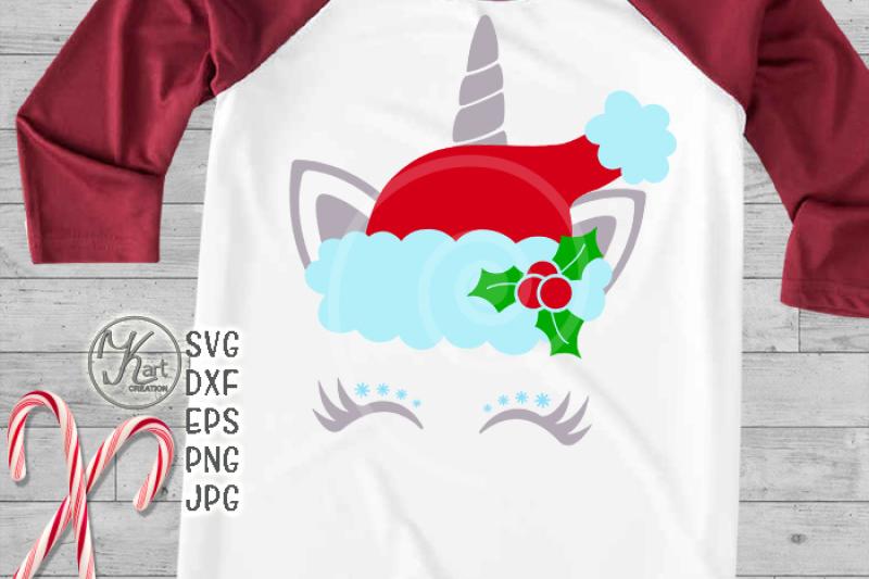 Christmas Unicorn Svg Santa Unicorn Svg Christmas Unicorn
