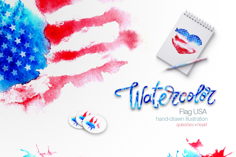 Download Free Watercolor Usa Flag American Flag Crafter File