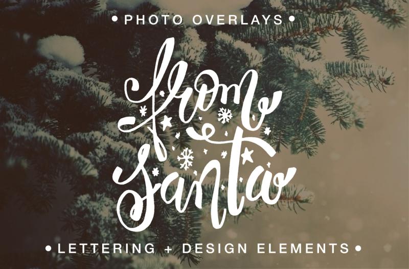 Christmas Photo Overlays By Alina Sh Thehungryjpeg Com