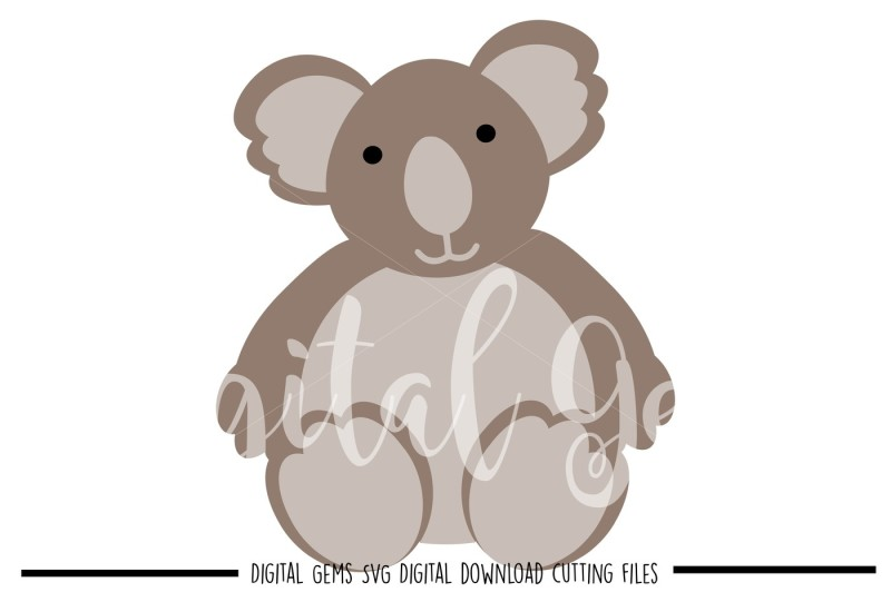 Download Free Koala Svg Dxf Eps Png Files Crafter File - High ...