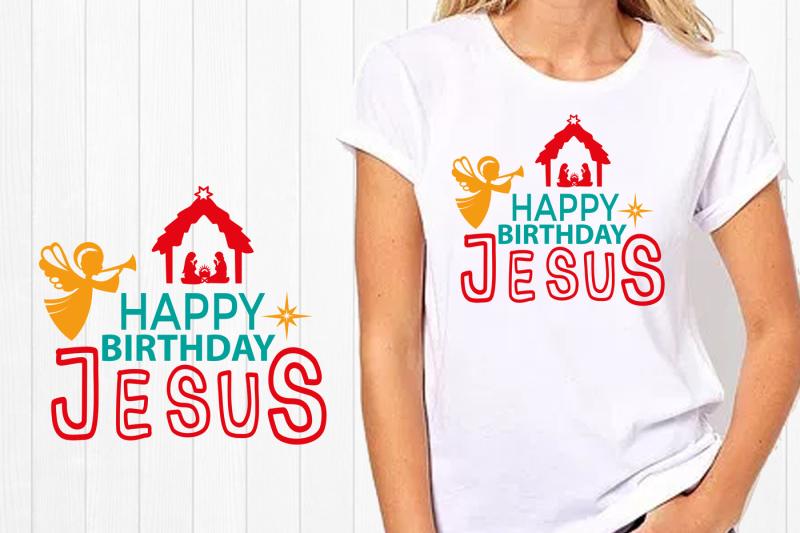 Happy Birthday Jesus Svg Nativity Svg Cut File Por Silhouette