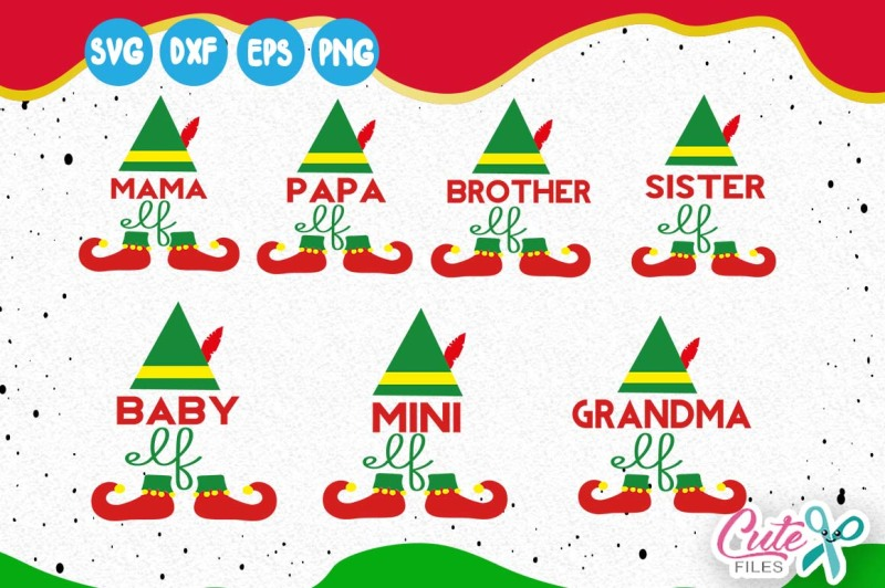 Free Elf Family Svg Papa And Mama Elf Mini Elf Mama Elf Baby Elf Grandma Elf Sister Elf Svg Brother Elf Christmas Clipart Crafter File Best Free Svg Files For