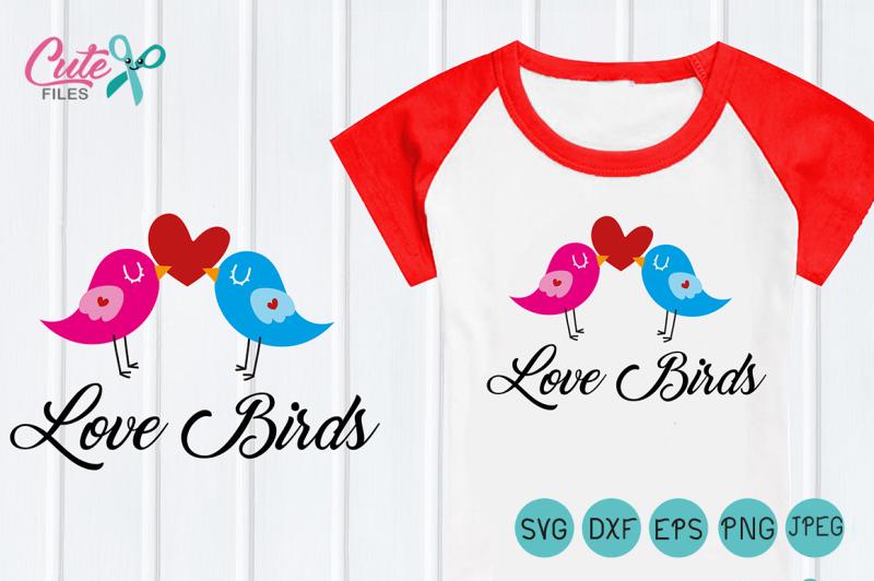 Bird LOVE Valentine SVG, bird SVG Vector, love Bird svg, Heart