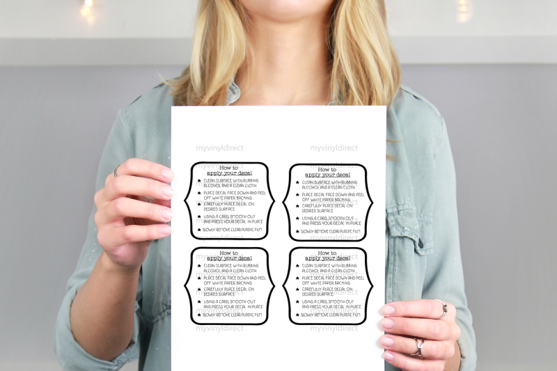 Vinyl Decal Application Instructions Printable File By My ...