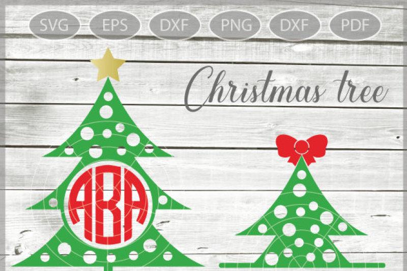 Christmas Tree Monogram Svg Xmas Tree Svg Christmas Tree Svg