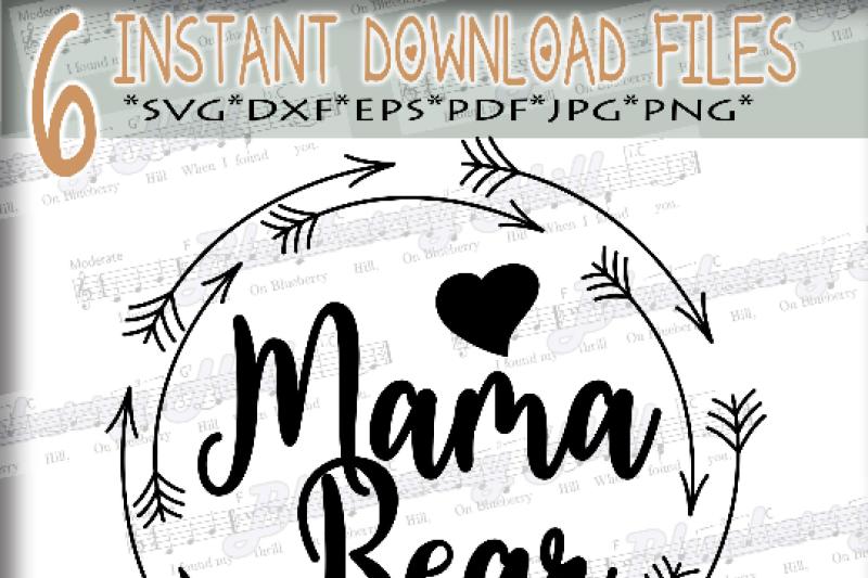 Mama Bear Svg Mothers Day Svg Digital Mama Bear Clipart Mama