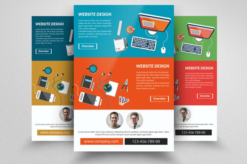 Web Designing Service Flyer Template By Designhub Thehungryjpeg