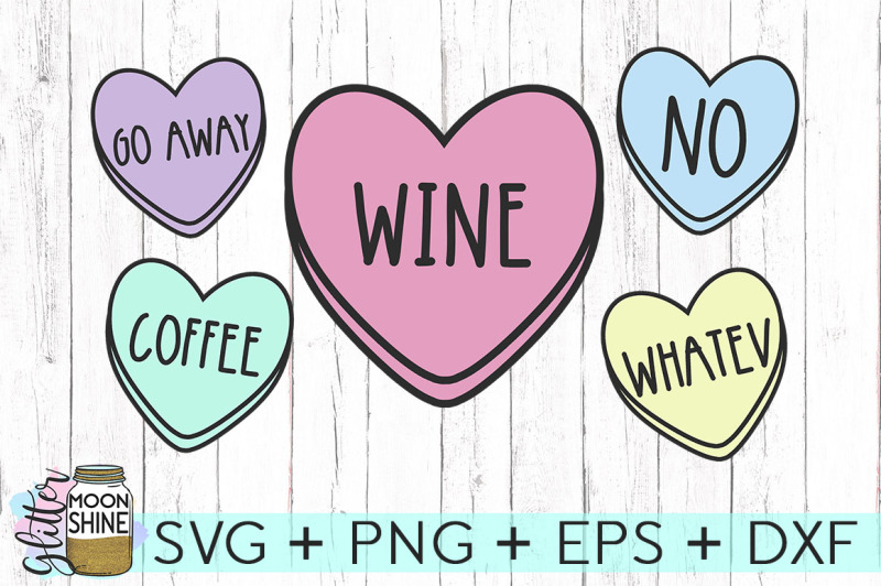 Sassy Candy Heart Bundle Svg Png Dxf Eps Cutting Files By Glitter