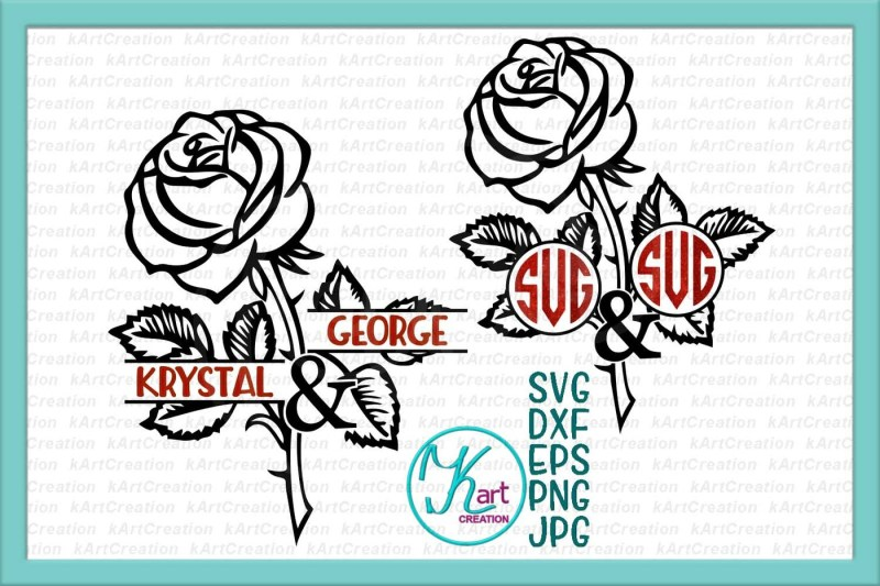 Free Couple Monogram Svg Rose Monogram Svg Mr And Mrs Svg Wedding Monogram Svg Valentine Monogram Svg Rose Split Monogram Silhouette Rose Crafter File The Best Free Svg Files Cricut