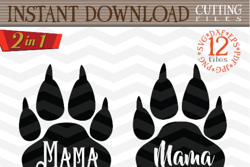 Mama Bear Svg Mama Bear Paw Svg Digital Mama Bear With Arrow
