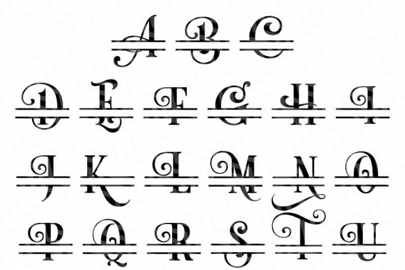 Download Split Letters A-Z SVG, Alphabet Letters A-Z By NewSvgArt ...