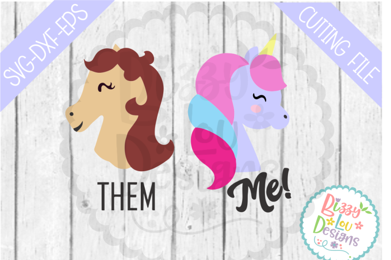 Them Me Horse And Unicorn Svg Dxf Eps Cutting File Design Svg Cut File Cameo