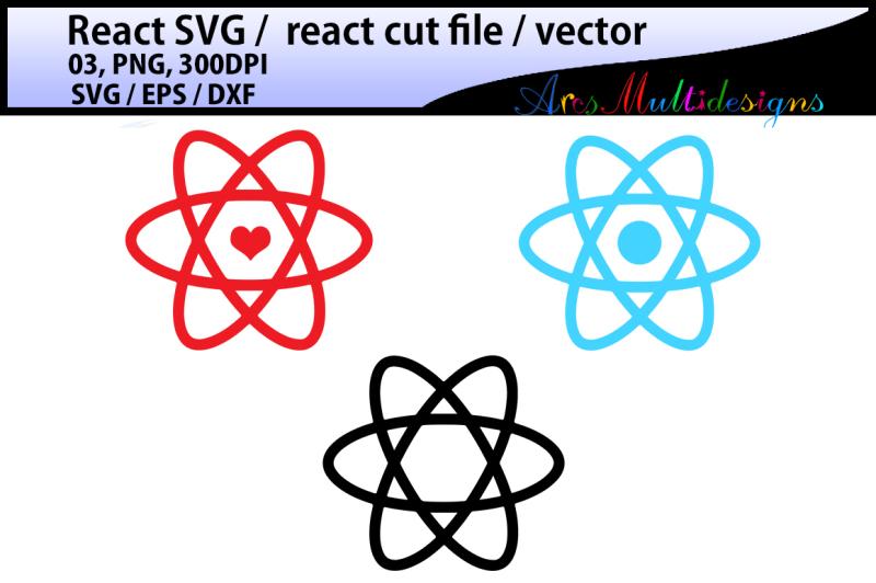 Free react / react svg vector / react heart shape / react circle