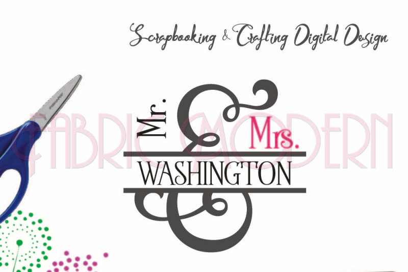 Mr And Mrs Ampersand Crafting Design File For Cutting And Printing By Fabricmodern Thehungryjpeg Com