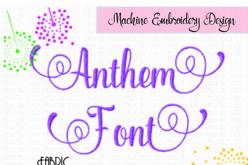 Free Anthem Font Embroidery Alphabet Includes Alternatives