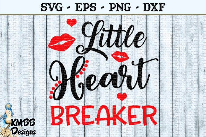 Free Little Heart Breaker Valentine SVG EPS PNG DXF Cut file