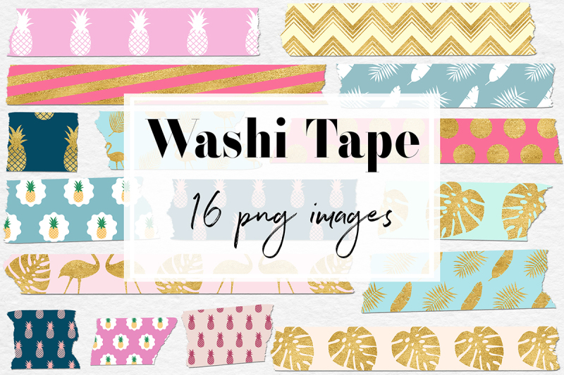Download Free Exotic Washi Tape Clipart Crafter File