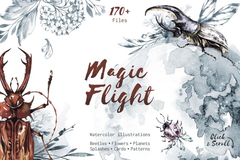 Magic Flight Watercolor Collection By Anastezia Luneva