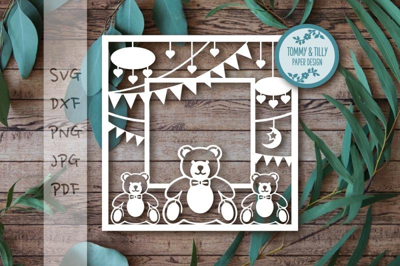 Free Teddy Bear Frame Svg Dxf Pdf Png Jpg Crafter File