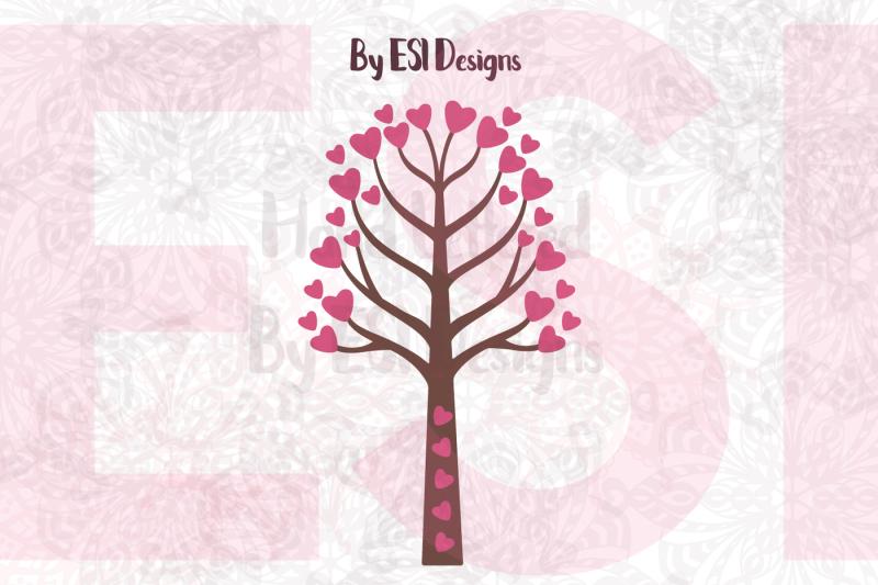 Valentines Heart Tree Design Design Free And Premium Svg Png Ai Csh Vector Icon