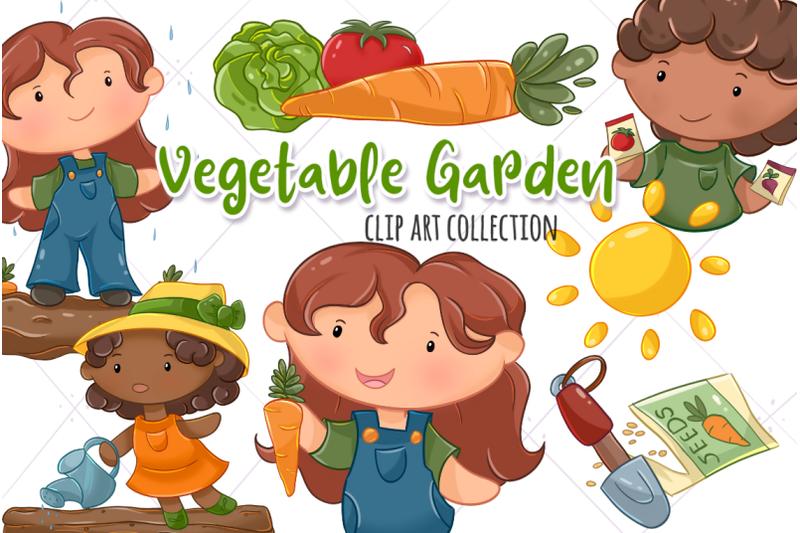 Plant Garden Clipart - Vegetable Garden Illustration - Free Transparent PNG  Clipart Images Download