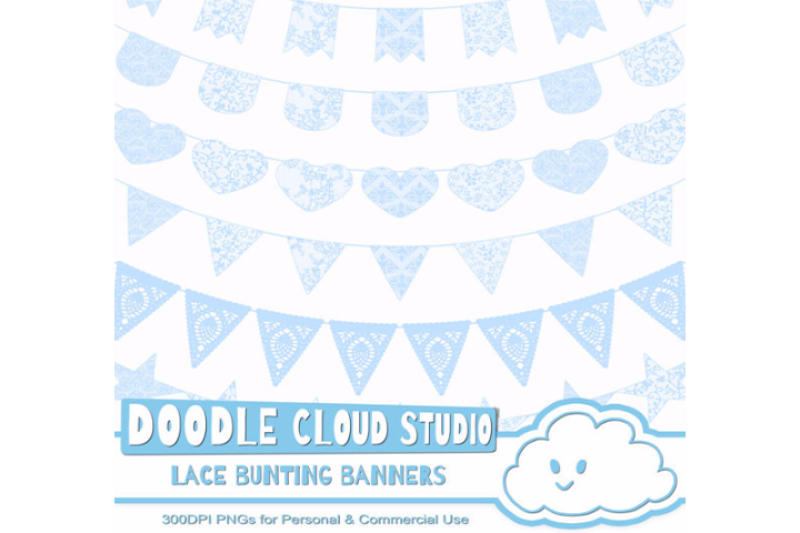Free Azure Lace Burlap Bunting Banners Cliparts Multiple Light Blue Lace Crafter File Cut File Svg Free Vector