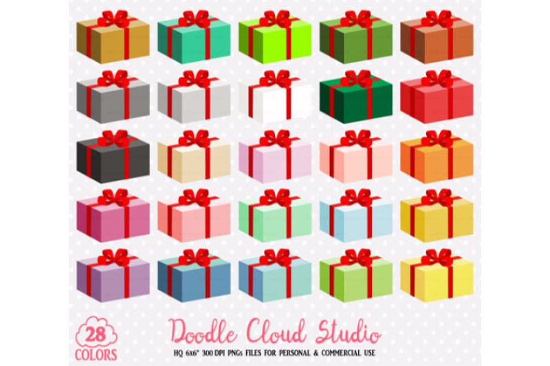 28 Colorful Present Clipart Birthday Gift Box Christmas Present