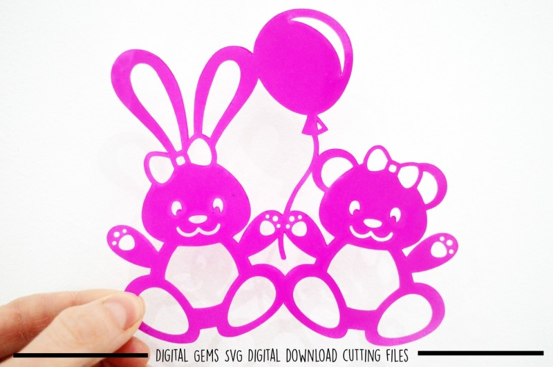 Free Rabbit And Bear Paper Cut Svg Dxf Eps Files Crafter File All New Free Svg Cut Quotes Files