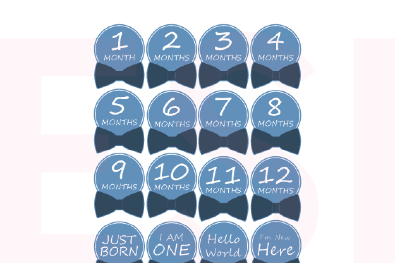 Download Free Baby Boy Monthly Milestone Designs Svg Dxf Eps Files Crafter File
