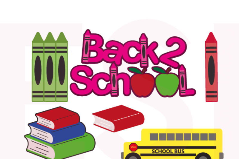 Back To School Designs Bundle Svg Dxf Eps Png Cutting Files