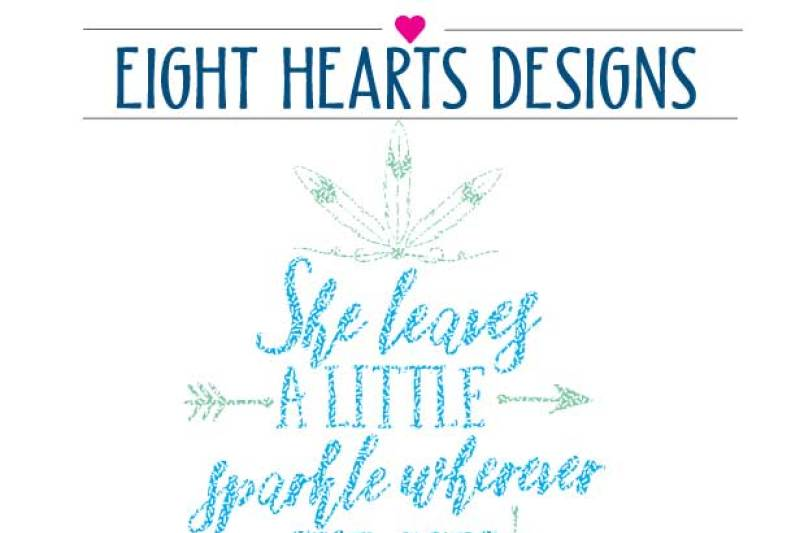 She Leaves A Little Sparkle Wherever She Goes Svg Png Eps Dxf Cutting File By Eight Hearts Designs Thehungryjpeg Com
