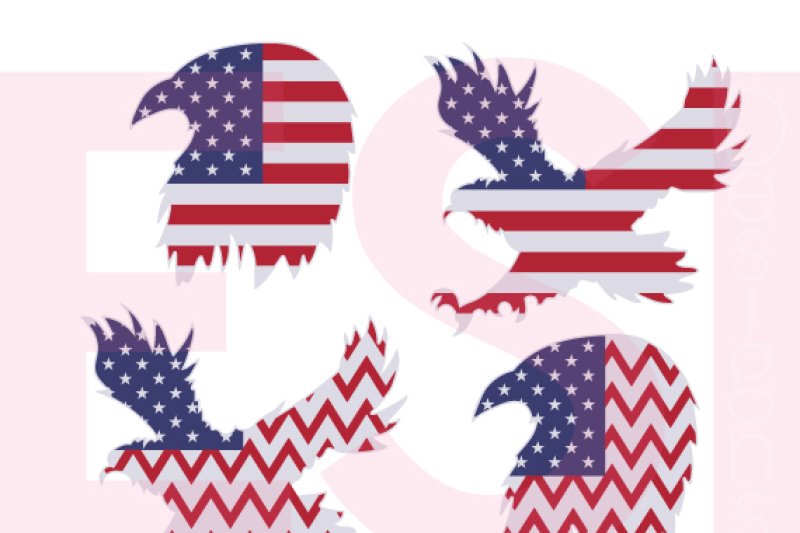 Patriotic Eagle Designs Us Flag Svg Dxf Eps Cutting Files Design Free Svg Files Vector Icons
