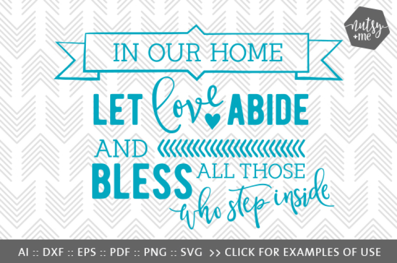 In Our Home Svg Png Vector Cut File By Nutsy Me Thehungryjpeg Com