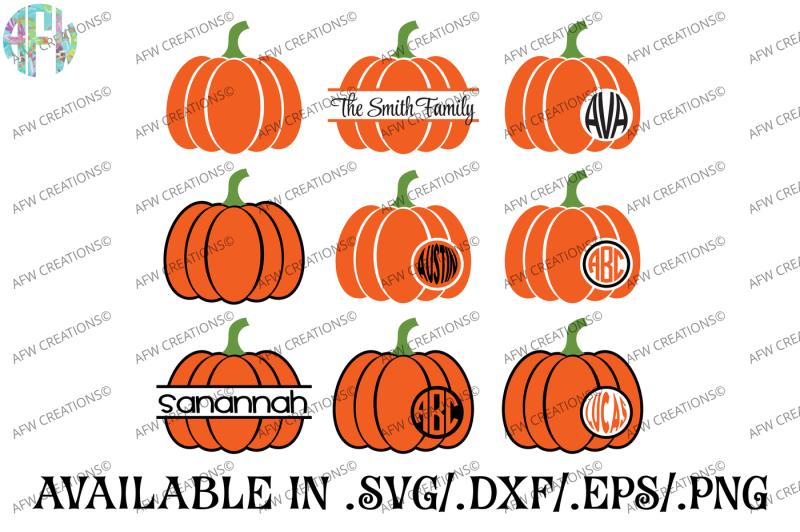 Free Split Monogram Pumpkins Svg Dxf Eps Cut Files Crafter File Best Sites For Free Svg Images Cricut Silhouette Cut Cut Craft