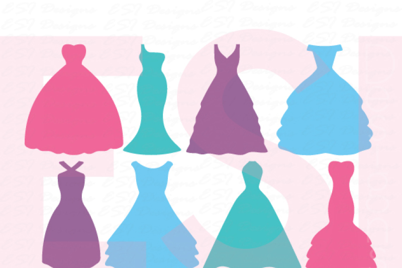 Free Silhouette Wedding Dress Designs Crafter File Free Commercial Use Svg Cut Files
