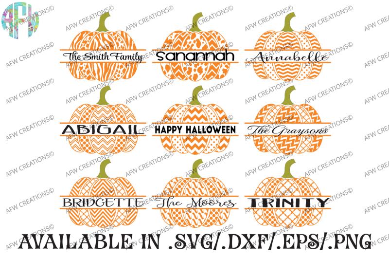 Two Pattern Split Pumpkins Svg Dxf Eps Cut Files Design Icons Svg File New