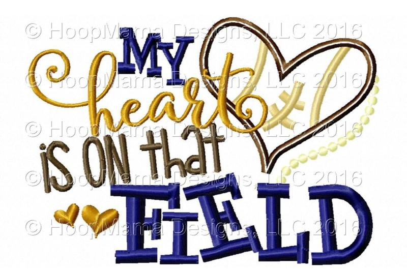 My Heart Is On That Field Football By Hoopmama Designs Thehungryjpeg Com
