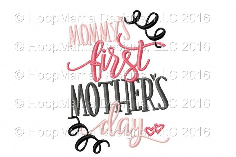 Mommy S First Mother S Day By Hoopmama Designs Thehungryjpeg Com
